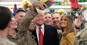 Trump, First Lady Visit U.S. Troops in Iraq