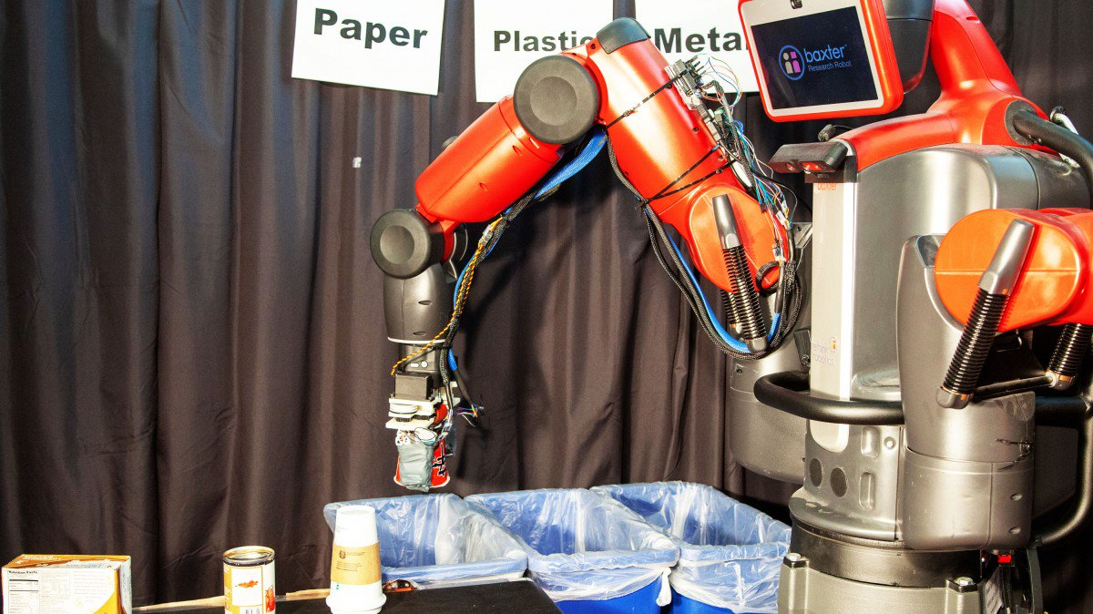This robot can sort recycling by giving it a squeeze