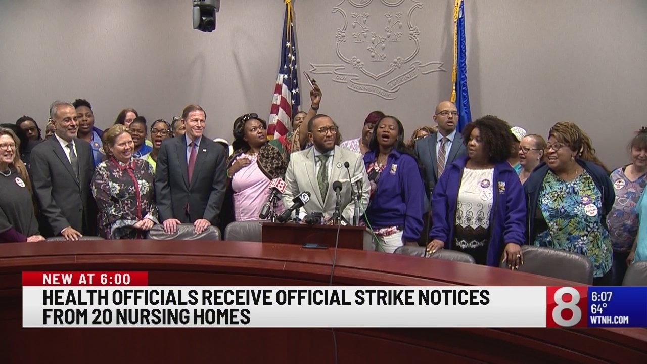 Health officials receive official strike notices from 20 nursing homes