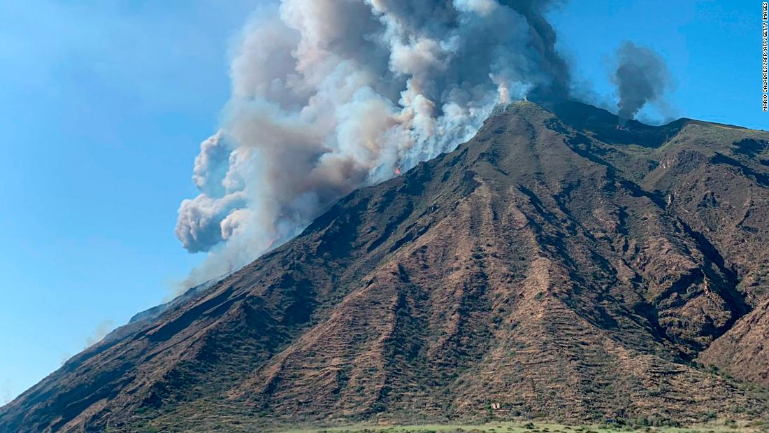 A volcanic eruption rocked the Italian island of Stromboli on Wednesday afternoon.
