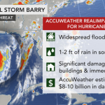 Slow-moving Tropical Storm Barry churns toward landfall