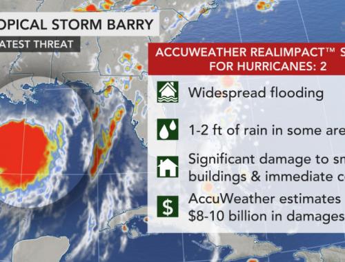 Slow-moving Tropical Storm Barry churns toward landfall
