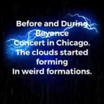 WEIRD CLOUD FORMATIONS SURROUNDING BEYONCE and JAY Z ON THE RUN 2 CONCERT IN CHICAGO