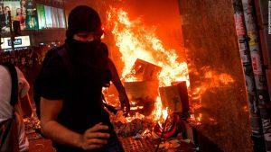 Hong Kong's ban on masks at protests sparks night of violent protests