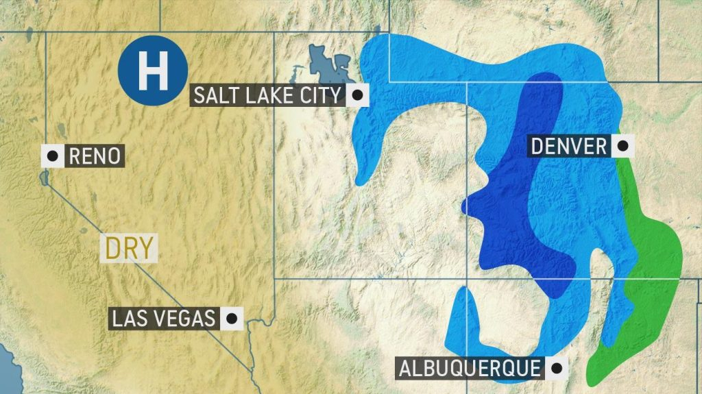 Quick-hitting storm can bring slippery travel to the Great Basin - AccuWeather.com