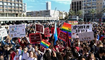 Thousands of teens protest education minister's remarks about LGBT couples