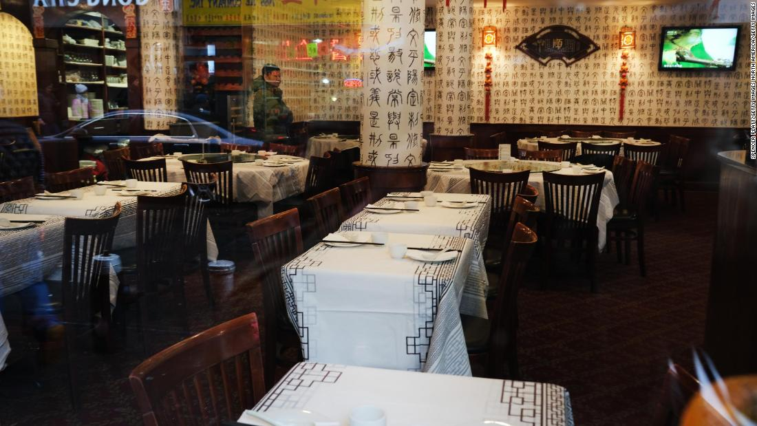 Chinese restaurants are losing business over coronavirus fears