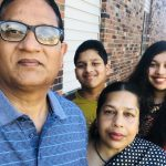 New U.S. citizens, from left, Rabiul Khan, Barid Khan, Sabera Sultana and Rubaida Khan, pose near their home in Winona. The family immigrated from Bangladesh in 2013 and became citizens in 2019. (Courtesy Rubaida Khan)