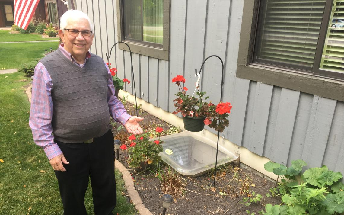 Though this year's season has passed, Gerry Joyce said he will enjoy working with flowers in his second retirement. (Adam Kurtz/Grand Forks Herald)